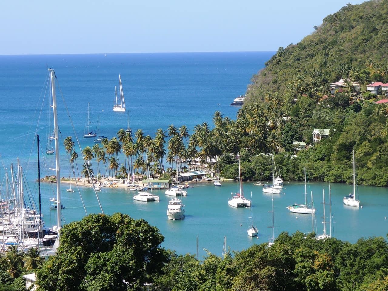 isla de santa lucía, en el Caribe