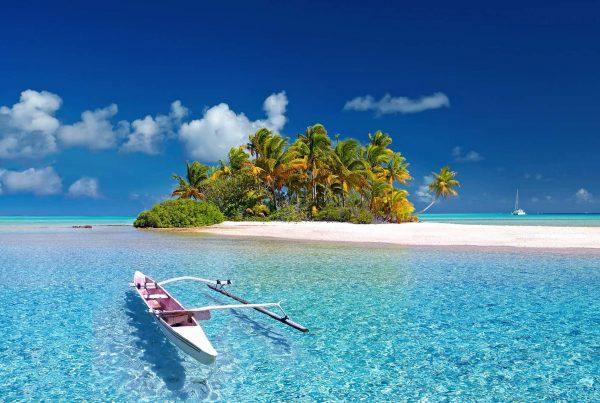 Isla en la Polinesia