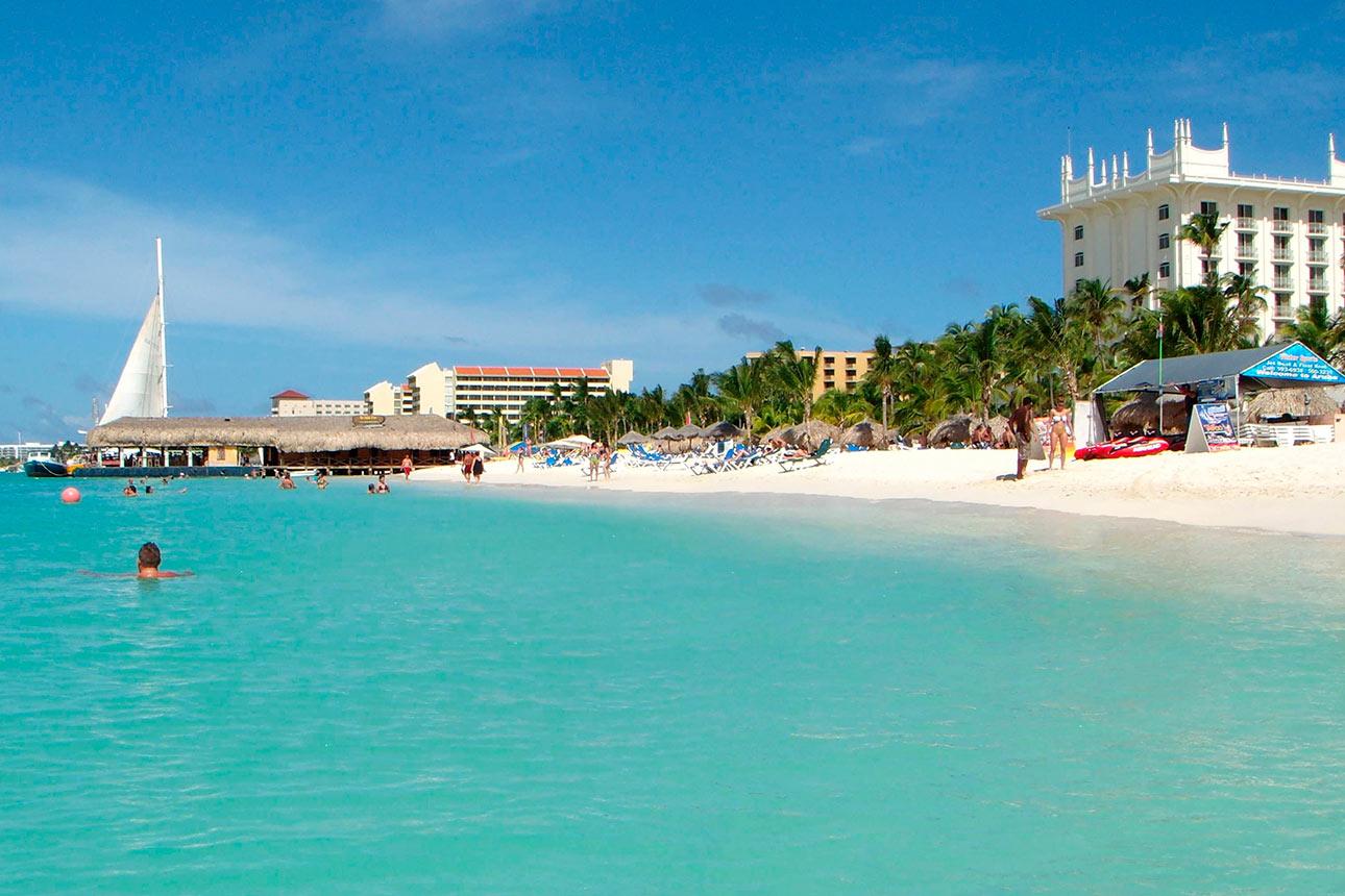 Palm beach en Aruba