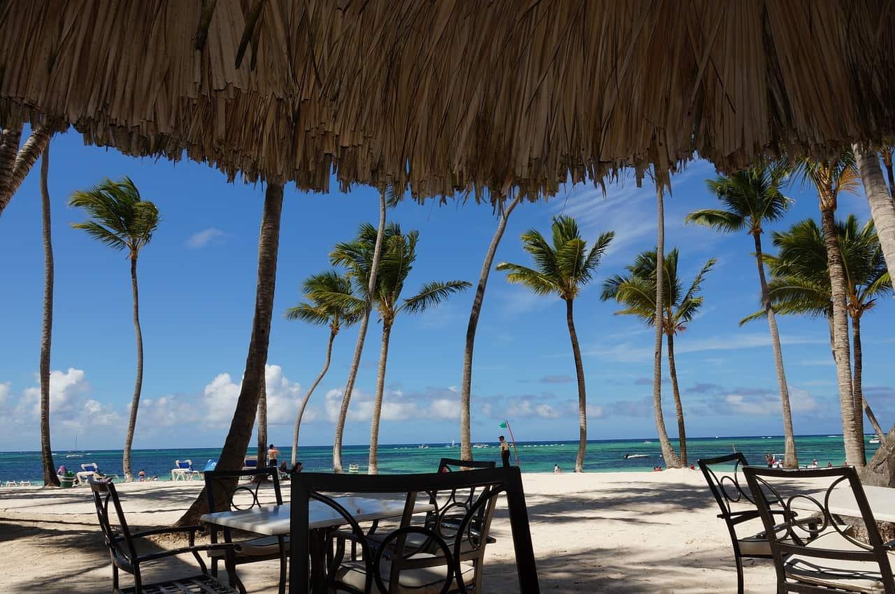 vistas desde la playa de Punta Cana