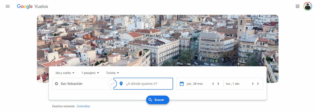 Google flights app para encontrar vuelos baratos