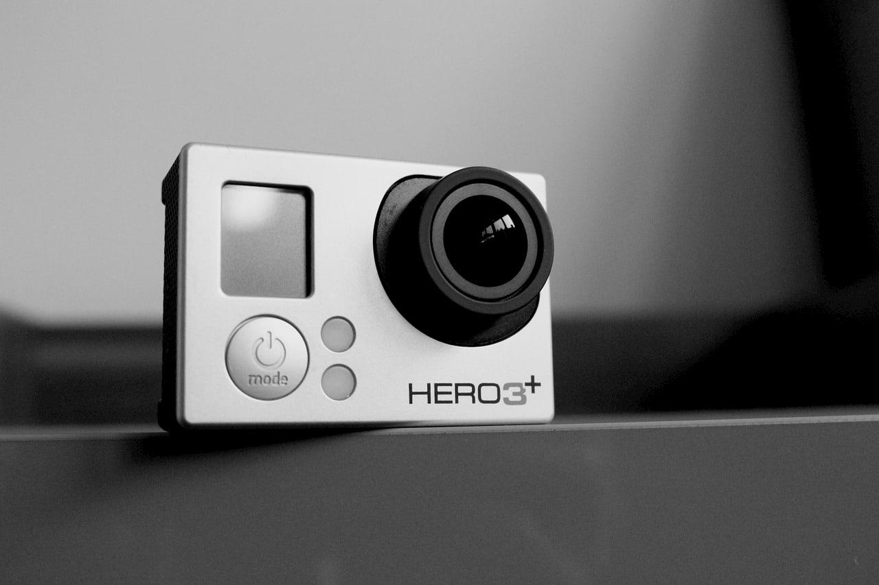 Las cámaras deportivas son super prácticas para ir de viaje, como esta Go Pro
