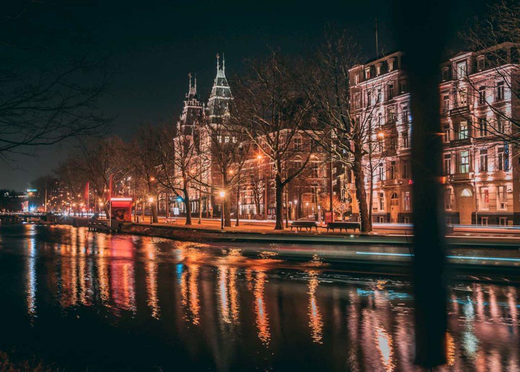 Barrio rojo amsterdam de noche