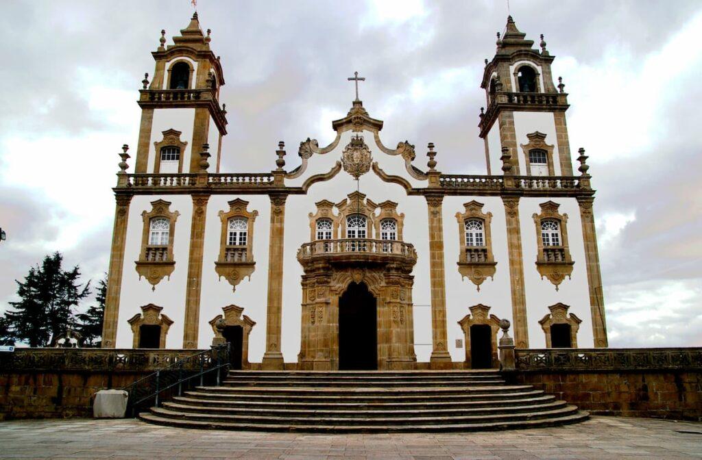 Iglesia de la misericordia en Viseu, Portugal